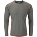 Rab DryFlo 120 Mens Long Sleeve Top Granite