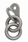 Πλακέτα με διπλό κρίκο Raumer Rock 10mm - stainless steel 316L