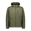 Ανδρικό SoftShell Jacket CMP Zip Hood Oil Green - Nero