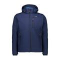 Ανδρικό SoftShell Jacket CMP Zip Hood Blue Ink - River