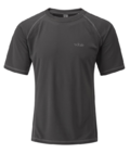 Rab DryFlo 120 Mens Short Sleeve Top Granite