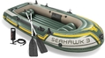 Βάρκα Φουσκωτή Intex Seahawk 3 SET (με κουπιά & τρόμπα)