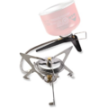 The MSR WindPro™ II backpacking stove maintains the efficiency a
